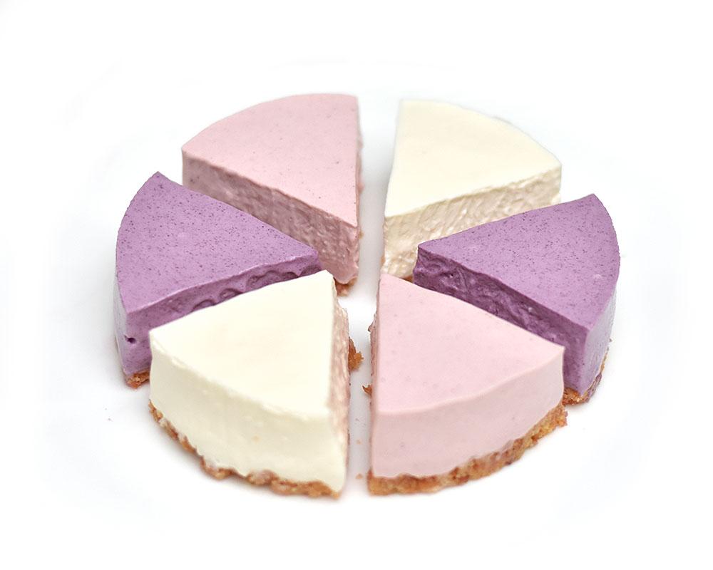 マリアンヌ|レアチーズのべリーベリーアソート(プレーン、ブルーベリー、ストロベリー)